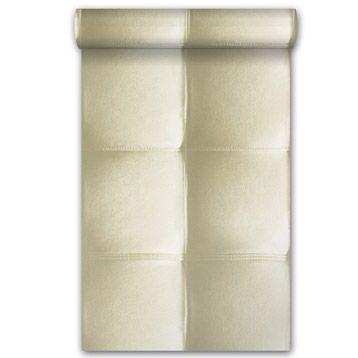 Papier Peint Vinyle Sur Intisse Capiton Cuir Blanc Larg 0 53 M Leroy Merlin