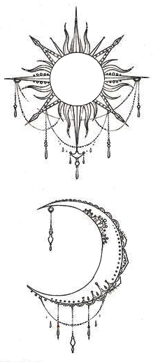 Moon And Sun Tattos Moon Tattoo Designs Tattoos Inspirational Tattoos