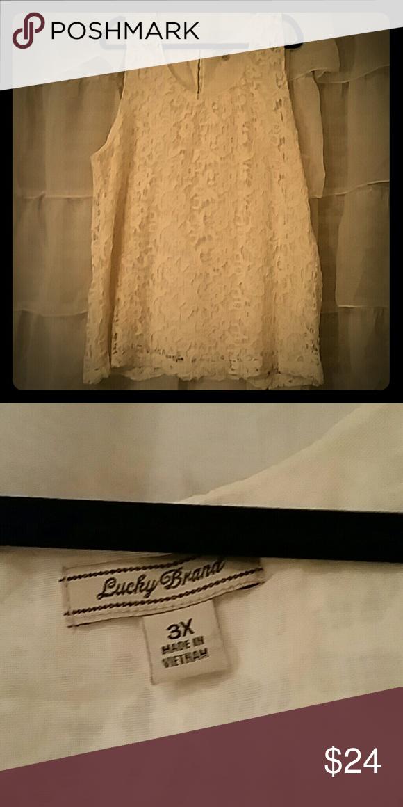 Lucky brand Crochet top Lucky Brand worn once Lucky Brand Tops