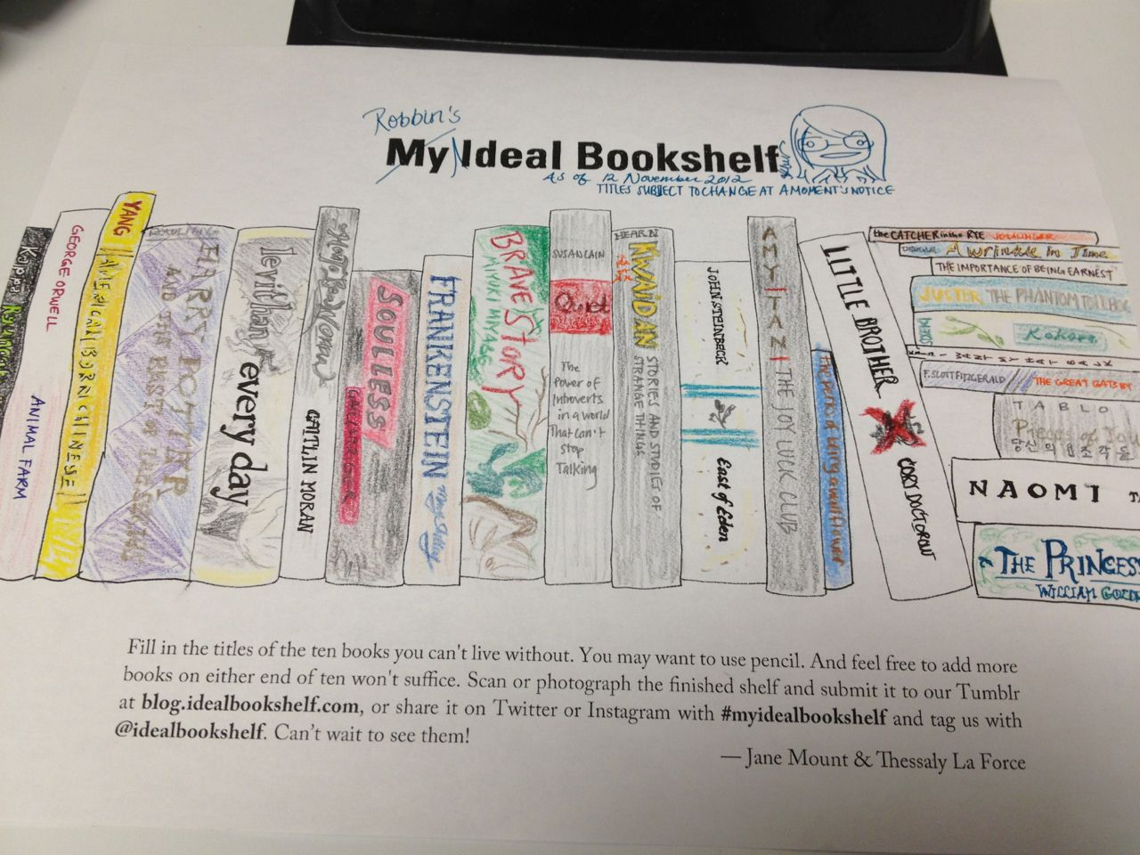 Ideal Bookshelf Is A Blog Where People Choose Their Top 10