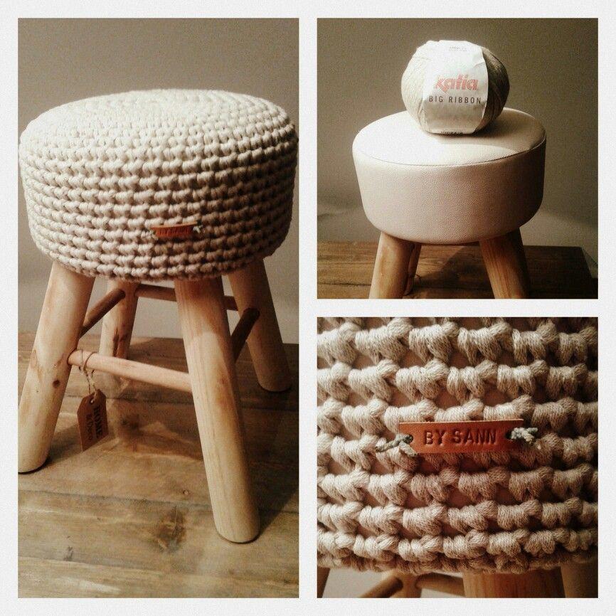 Krukje Action Omgehaakt Met Patroon Van Annd Crochet Stools