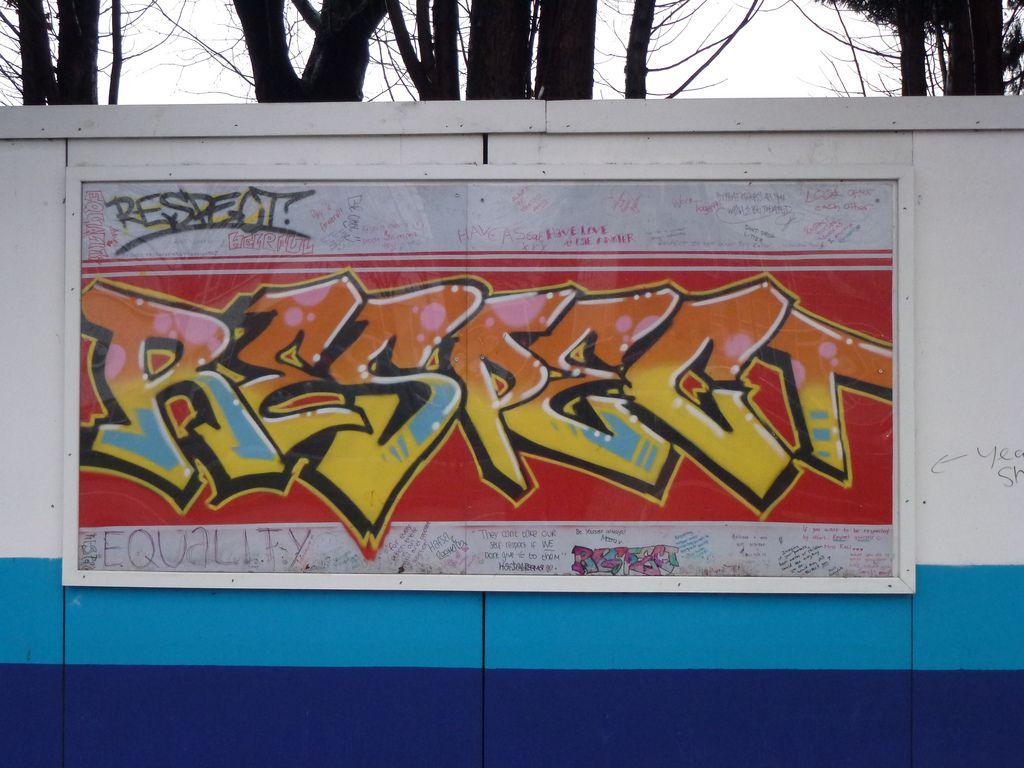 Respect Graffiti Kiran Parmar Flickr Wall Murals Respect Graffiti Stencils