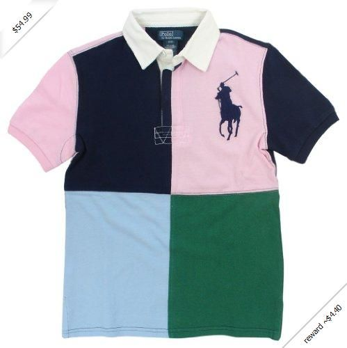 83a9adb9 Polo Ralph Lauren Boys Big Pony Four Color Polo Rugby Shirt | Shop ...