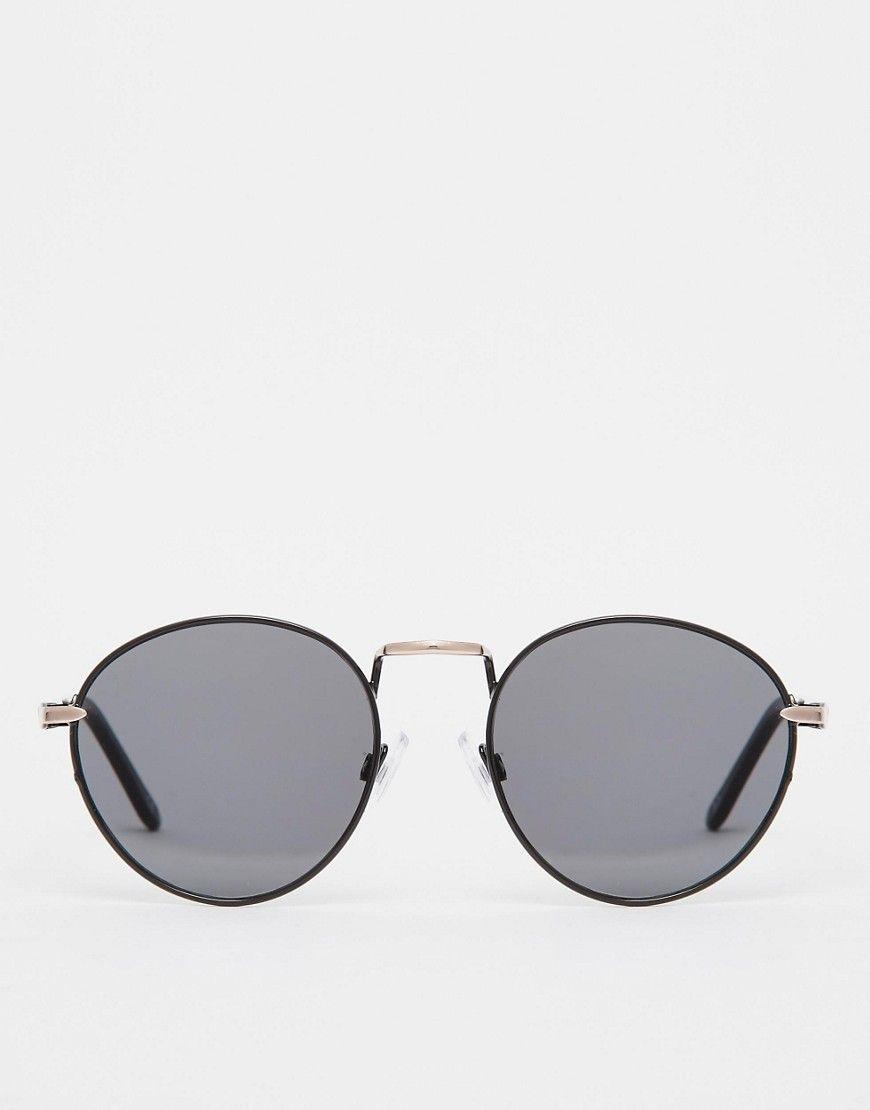 Bild 2 von ASOS – Kleine, runde Metallsonnenbrille mit flachen ...