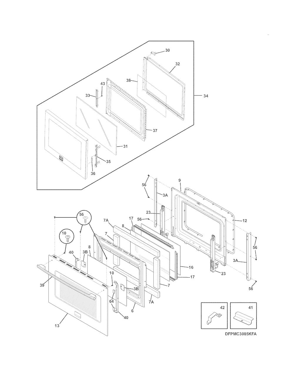 Shop for frigidaire wallovenmicrowave combo repair parts