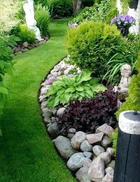 Easy And Simple Landscaping Ideas Garden Designs Drawing Cheap Pool For Backyard Front Yard Low Maintenance
