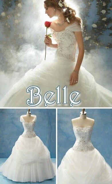 Bela e a fera   C:   Pinterest   Disney weddings, Wedding dress and ...