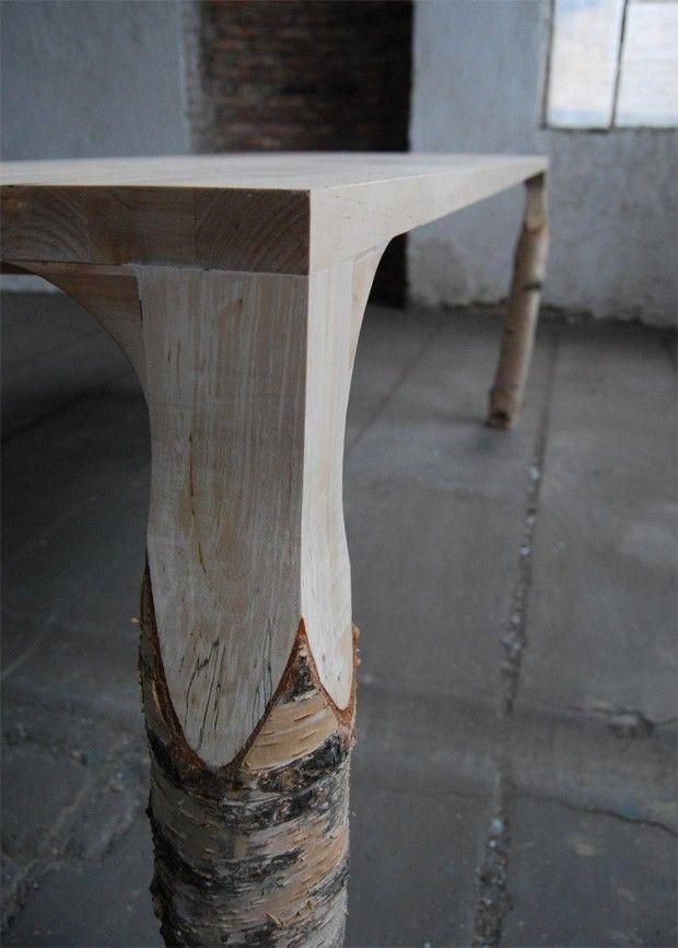 Table Bouleau par Deslignes | Madera, Mesas y Muebles de jardin