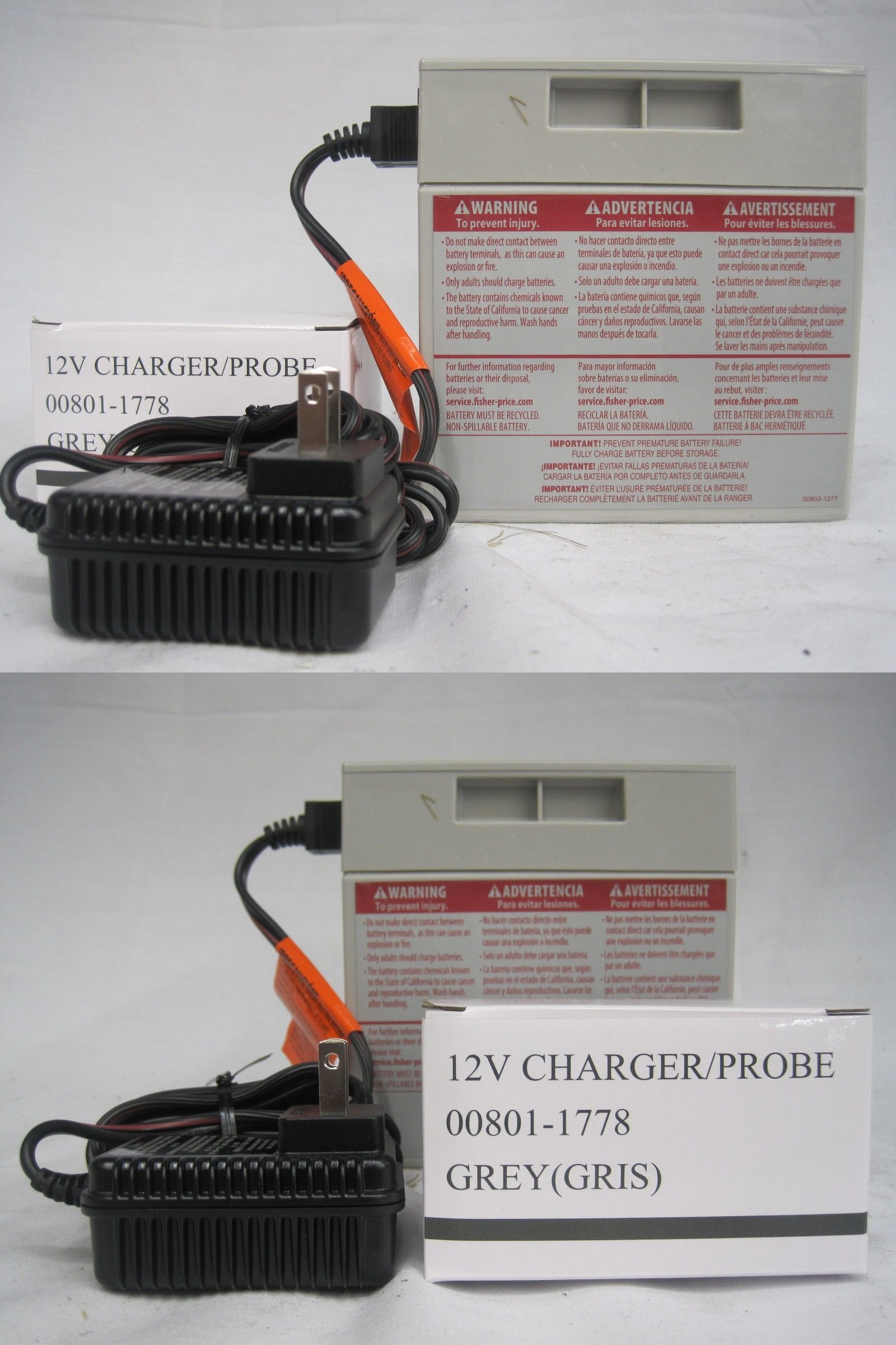 Details about power wheels 12v gray battery 008010638