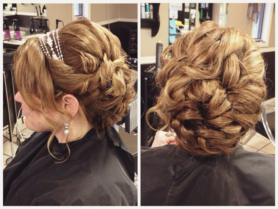 romantic low updo with volume for wedding or prom, bobbie
