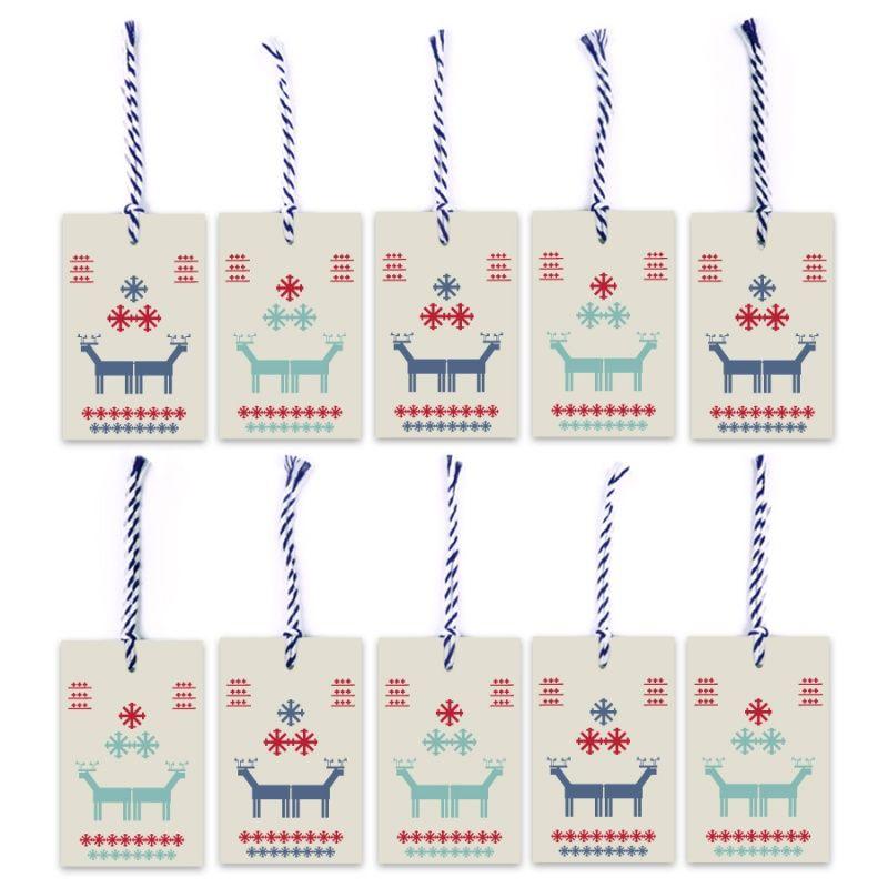 A beautiful set of handmade cards to decorate Christmas presents by Wiewiórka i Spółka