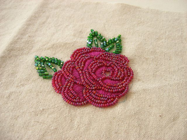 Leaves :: two ways beadwork pinterest embroidery beaded
