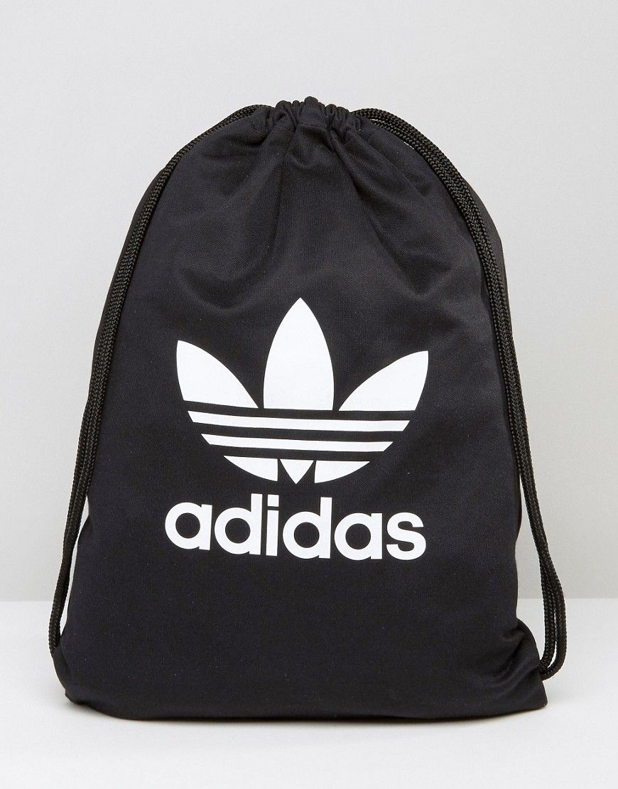 a206777c6846 ADIDAS ORIGINALS ADIDAS ORIGINALS DRAWSTRING BACKPACK WITH TREFOIL LOGO -  BLACK.  adidasoriginals  bags