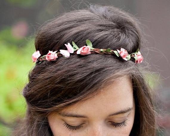 Butterfly Flower Crown Headband - Hippie Flower Headband - Adult Flower Headband - Head Band For Wom #crownheadband