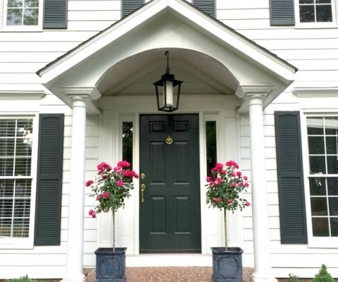 Colonial Exterior House Exteriors Front Door Style Homes