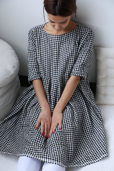 rennes — Veritecoeur Gingham Linen Tunic | sewing | Pinterest ...