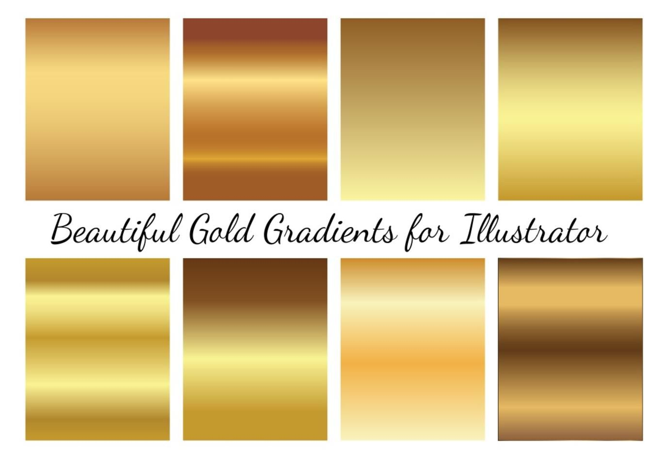 Gold Vector Gradients Color Vector Gold Gradient Free