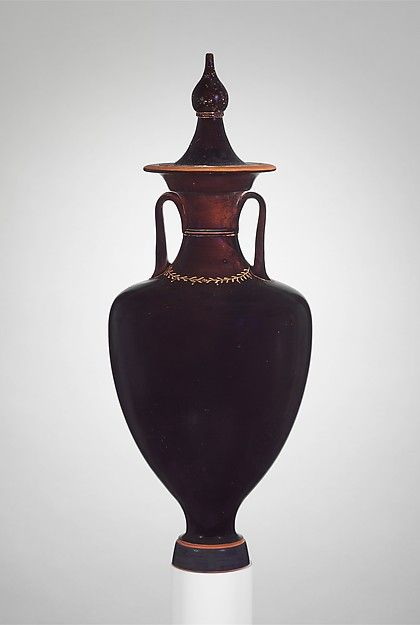 Terracotta Amphora With Lid Jar Late Classical 4th