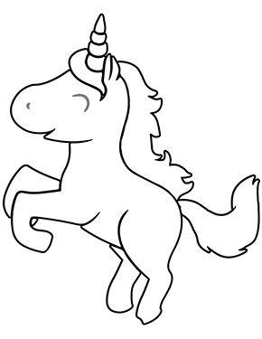 Ausmalbild Baby Einhorn Springt Zum Kostenlosen Ausdrucken Und Ausmalen Fur Kinder Ausmalbilder Malvorla Baby Einhorn Malvorlagen Pferde Einhorn Zeichnen