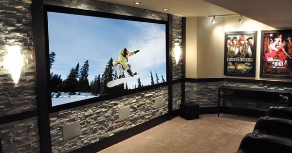 Liked on Pinterest: CEDIA 2012 Home Theater Finalist: Rock Steady | Home Remodeling - Ideas for Basements Home Theaters & More | HGTV