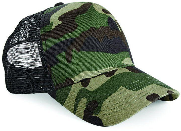 Beechfield Retro Camouflage Snapback Trucker Cap (One Size) (Jungle Camo)  Army Hat 575b4e5a514