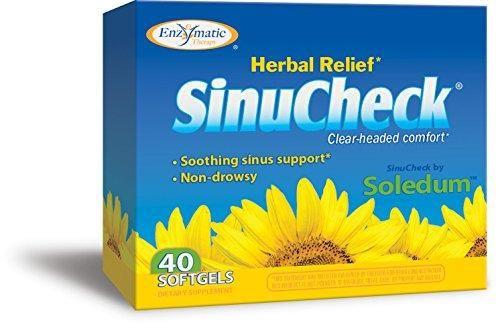 Enzymatic Therapy Sinucheck 40 Soft Gels Box