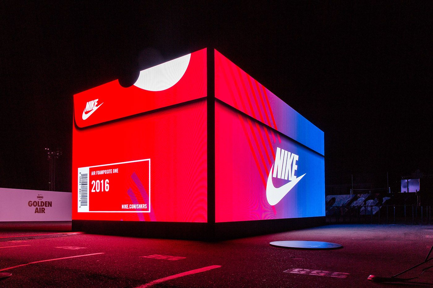 Nike Snkrs Box San Francisco On Behance Pop Up Store Nike Snkrs Pop Up