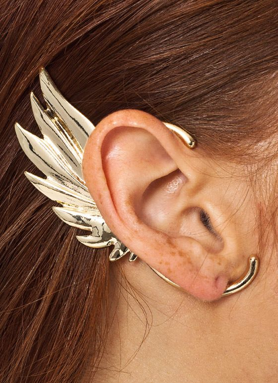 Get Your Greek Dess On With This Single Wing Charm Ear