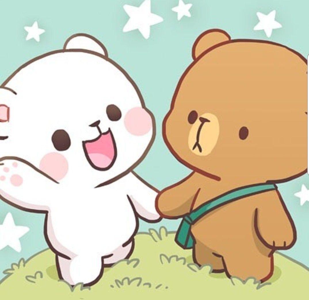Pin By Mi Ro On Milk Et Mocha Cute Bear Drawings Cute Cartoon Wallpapers Cute Love Gif