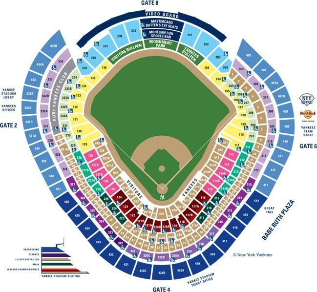 Yankee stadium seating chart google search theater stadium