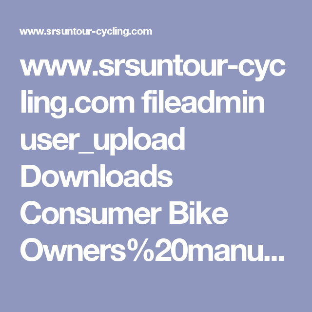 www.srsuntour-cycling.com fileadmin user_upload Downloads Consumer Bike Owners%20manuals 2014 general-fork-manual-spanish-web.pdf