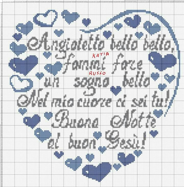 Cuore bimbi x stitch cross stitch cross stitch baby e for Idee punto croce bimbi