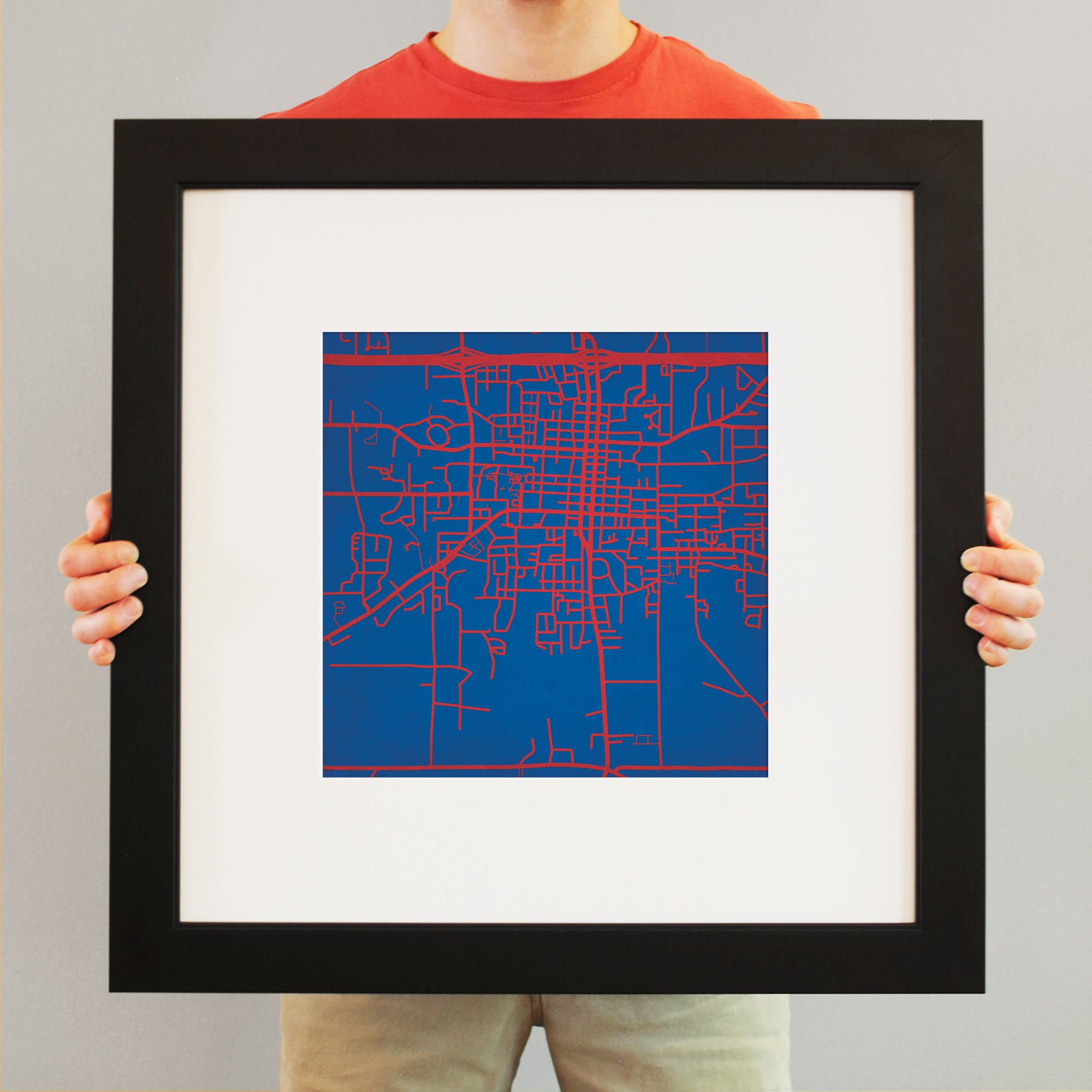 Louisiana Tech University Campus Map Art Map art