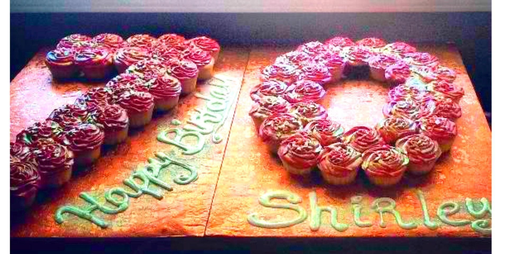 70th Birthday Cupcake Pull Apart 70th Birthday Cake 70th