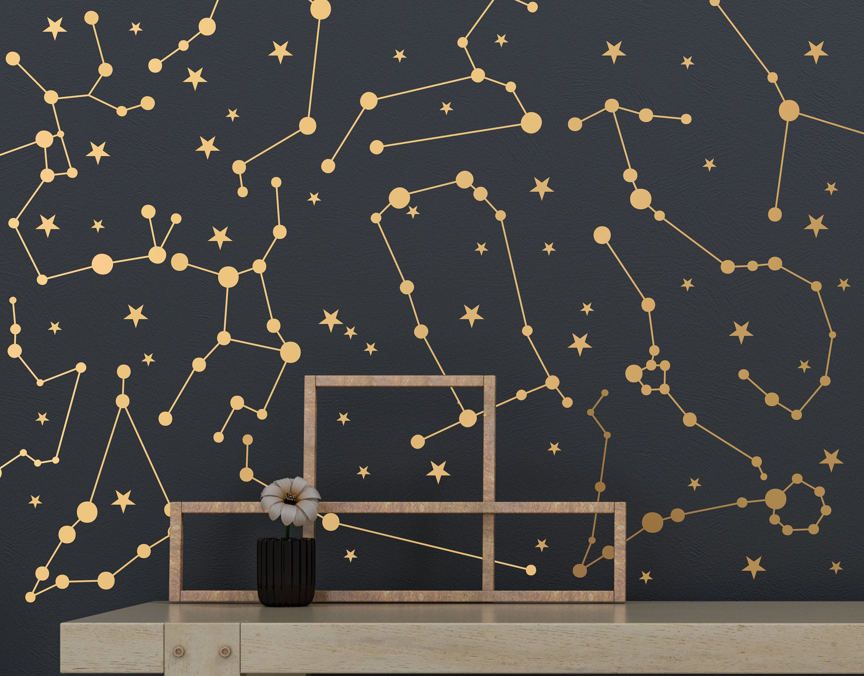 Zodiac Constellations And Star Decals Wall Decals Dorm Room