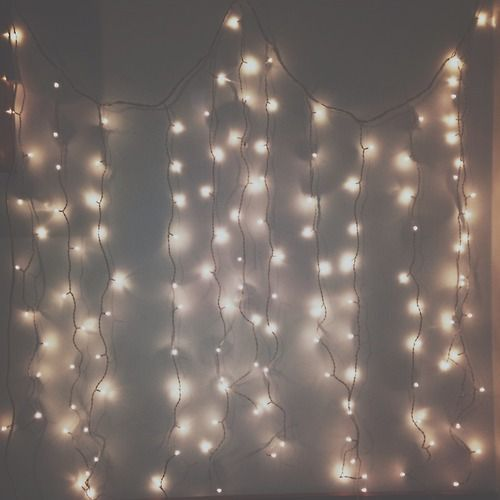 Image result for white christmas lights tumblr