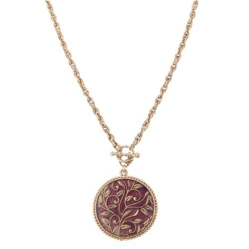 Rose Gold Medallion Pink Pendant Necklace 1928 Jewelry, http://www.amazon.com/dp/B0057VQFB0/ref=cm_sw_r_pi_dp_nsbHqb15VMFMQ