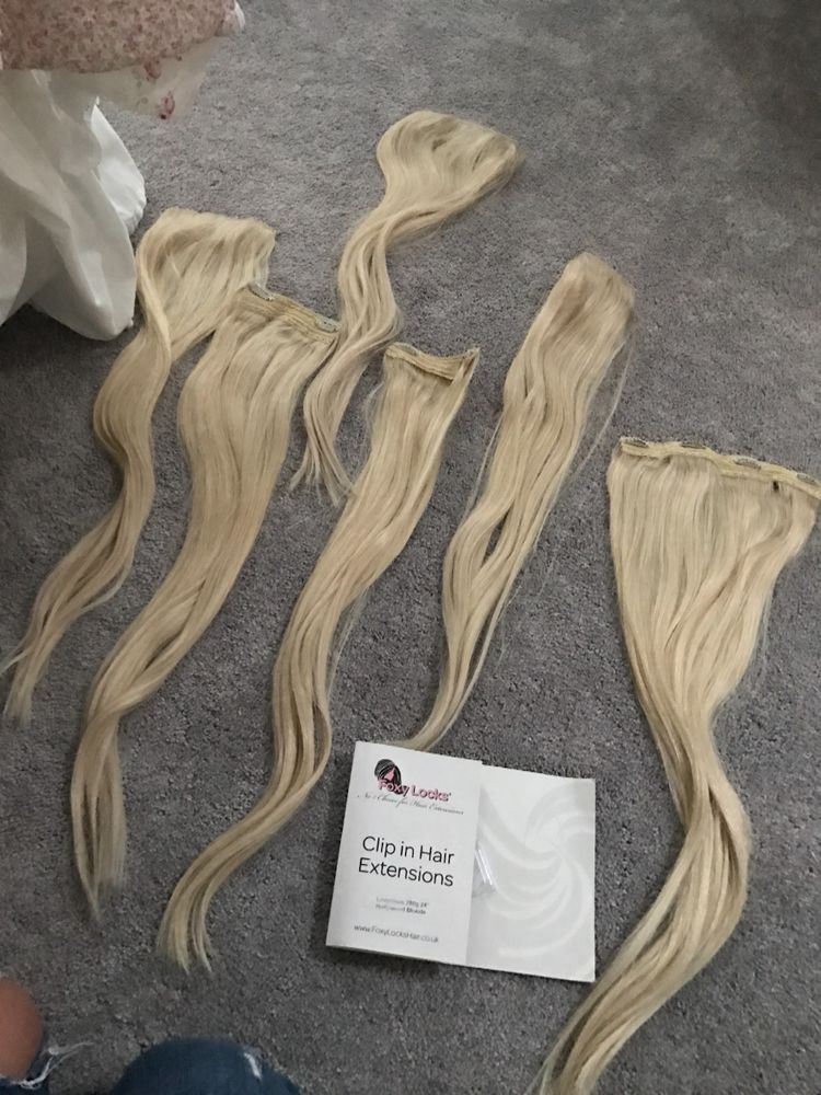 Foxy Locks 24 Hollywood Clip In Hair Extensions Remy Hair Hair