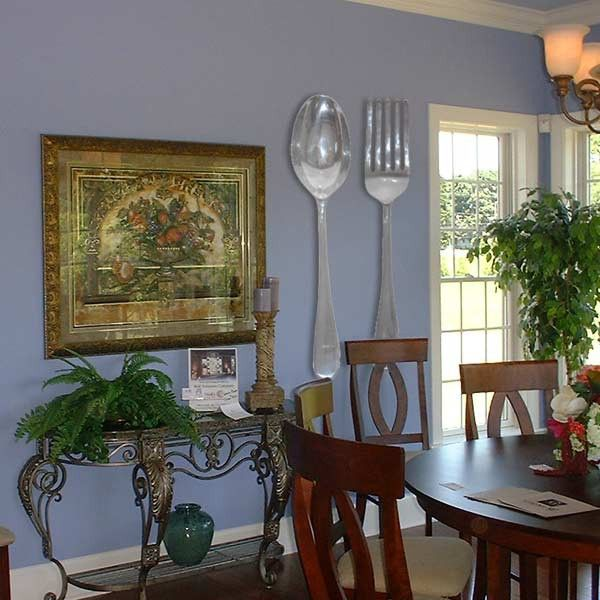 Spoon And Fork Wall Decor great big spoon and fork set (almost 4feet). bought! ready to hang