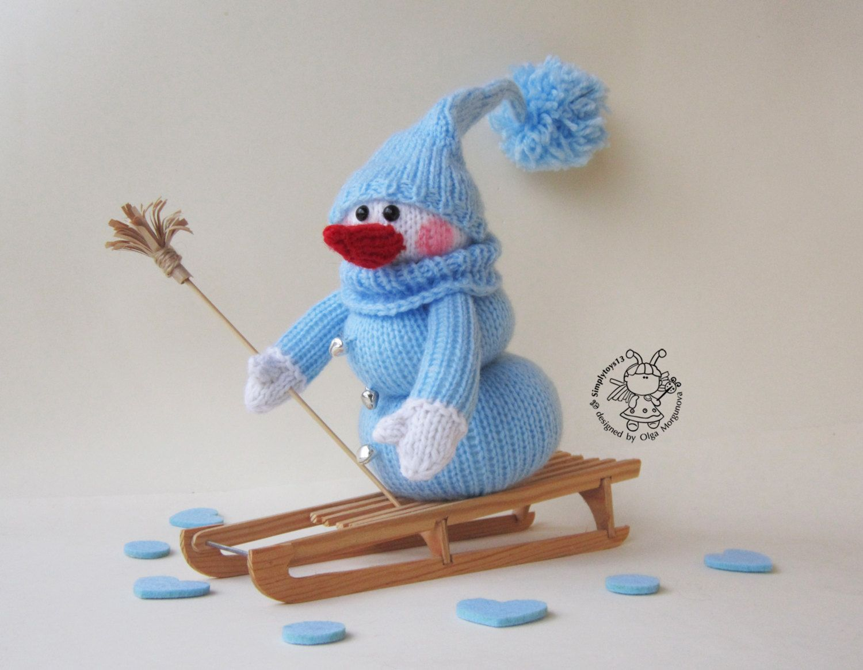 Cute Snowman. Snowman. Knitting pattern Knitted round. Amigurumi ...