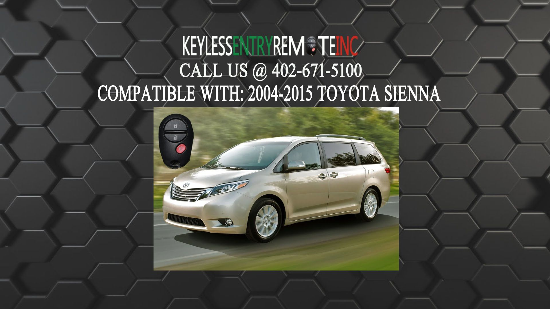 How To Replace A Toyota Sienna Key Fob Battery 2004 2015