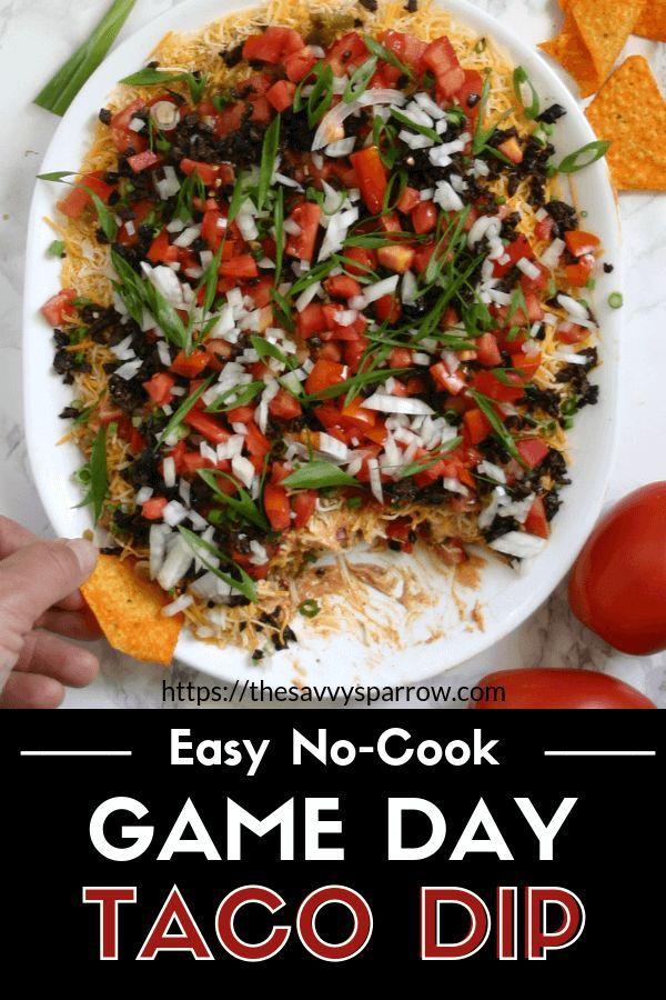 Game Day Taco Dip #tailgatefood