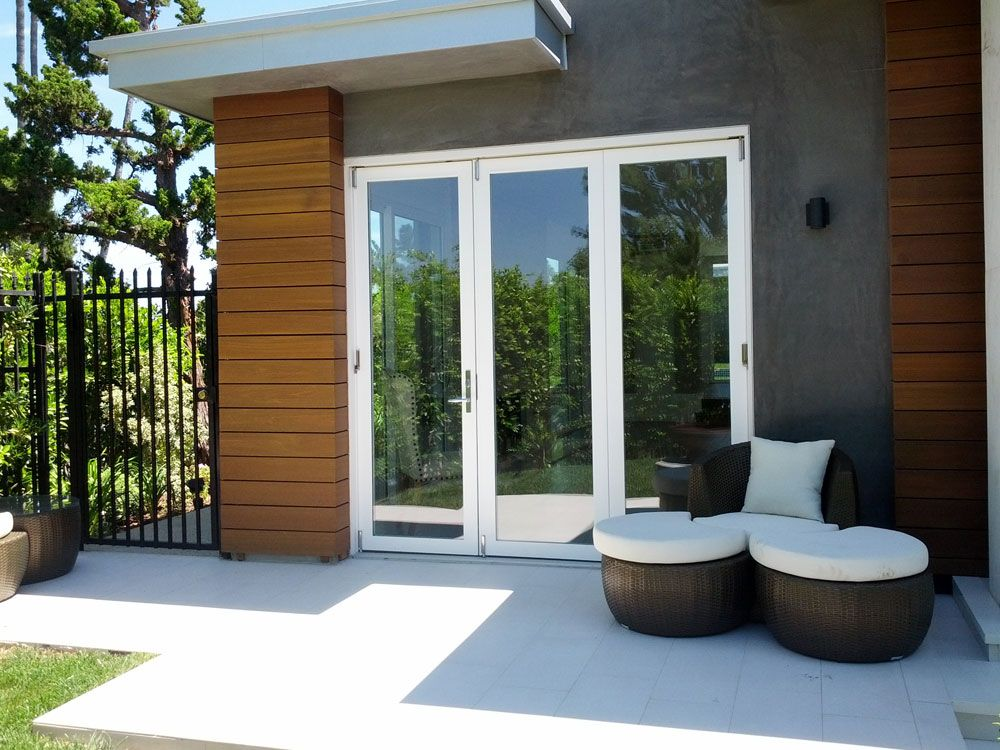 Great Single Door Paired With Exterior Folding Door To Open Up One Side Of The  Space When Part 16