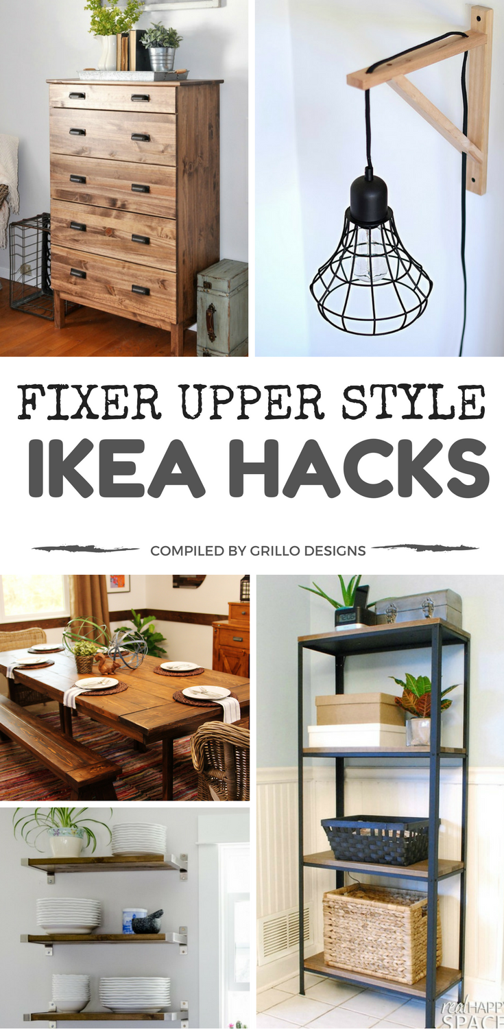 fixer upper style ikea hacks for a farmhouse appeal diy projects pinterest haus m bel und. Black Bedroom Furniture Sets. Home Design Ideas