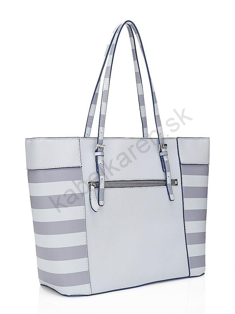 Kabelka GUESS Delaney striped Shopper  447532cb53d