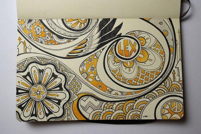 Libretas De Dibujo De Un Artista Freelance: Moleskine Illustration #18: Lex.