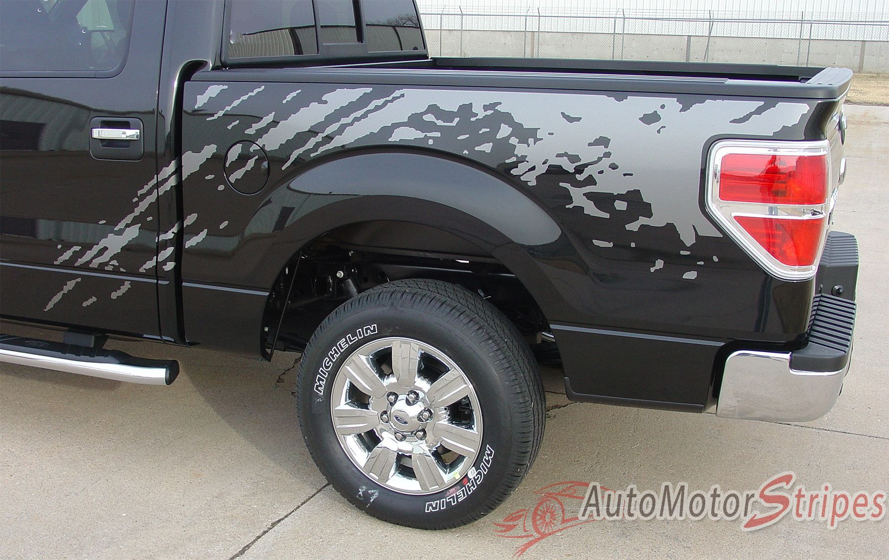 2009 2014 ford f 150 predator factory style bed raptor mudslinger style vinyl decal graphic 3m stripes