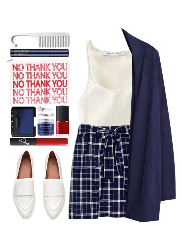 """#877 Luna"" by blueberrylexie ❤ liked on Polyvore featuring Uniqlo, Madewell, MANGO, NARS Cosmetics, Sara Happ, Adia Kibur and Estée Lauder"