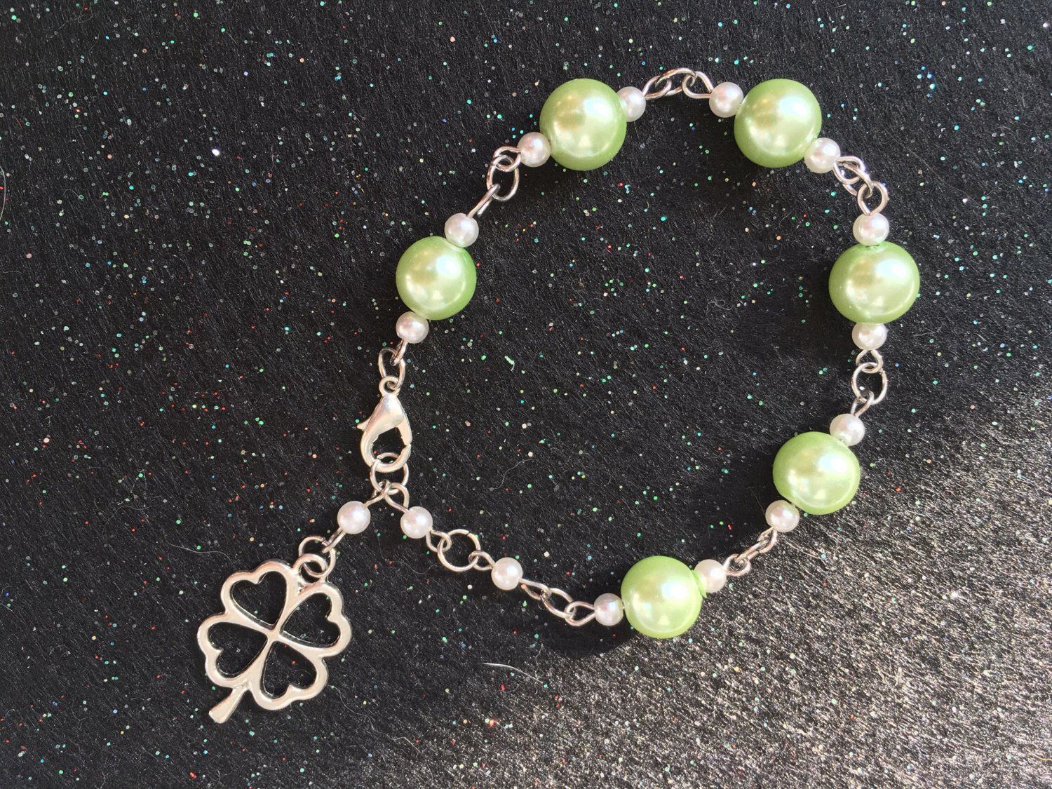 A personal favorite from my Etsy shop https://www.etsy.com/ca/listing/483411073/4-leaf-clover-lucky-charm-bracelet-with