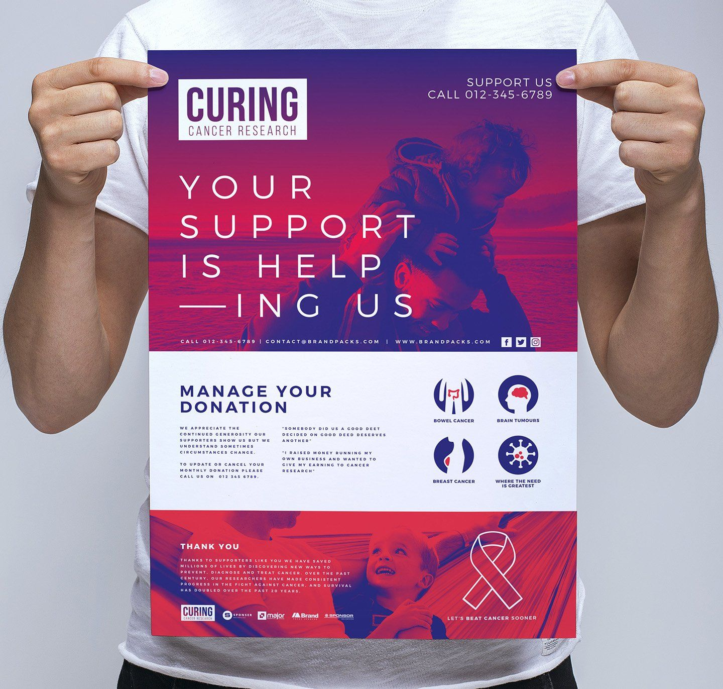 Cancer Charity Poster Template in 2020 Charity poster